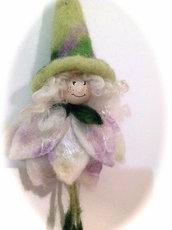 Fatine di primavera in lana cardata - colorate