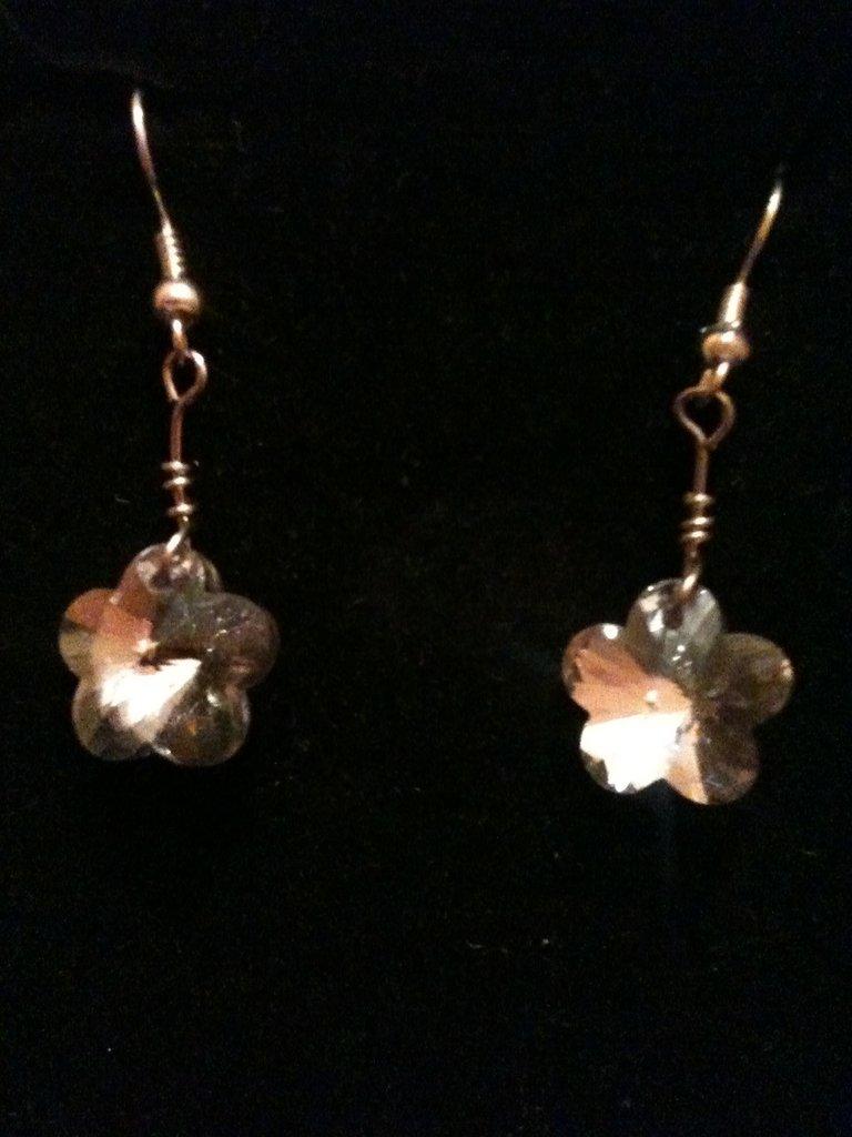 orecchini con fiore argento