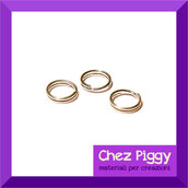 100 x anellini doppi - 6 mm