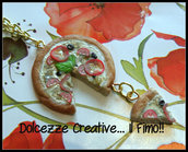 ★★SALDI Collana Pizza Veg -  Formaggio Vegano, peperoni, pomodori, olive e olio piccante