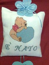 fiocco nascita con cuore rosa o azzurro  BABYBORN