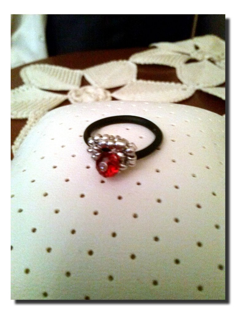 CRISTAL RING red