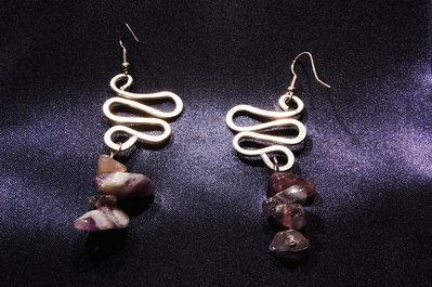 orecchini alluminio