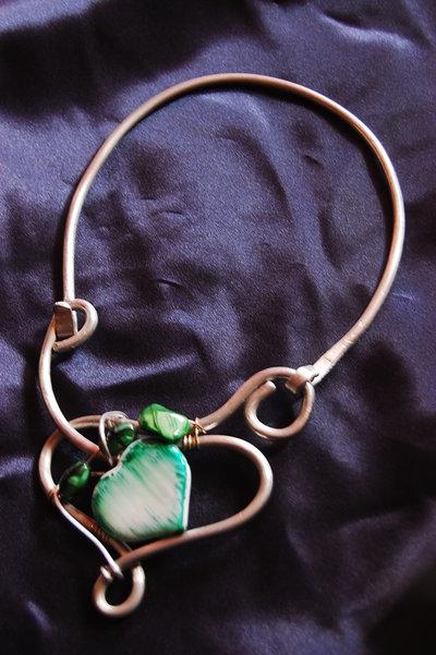collana alluminio con cuore