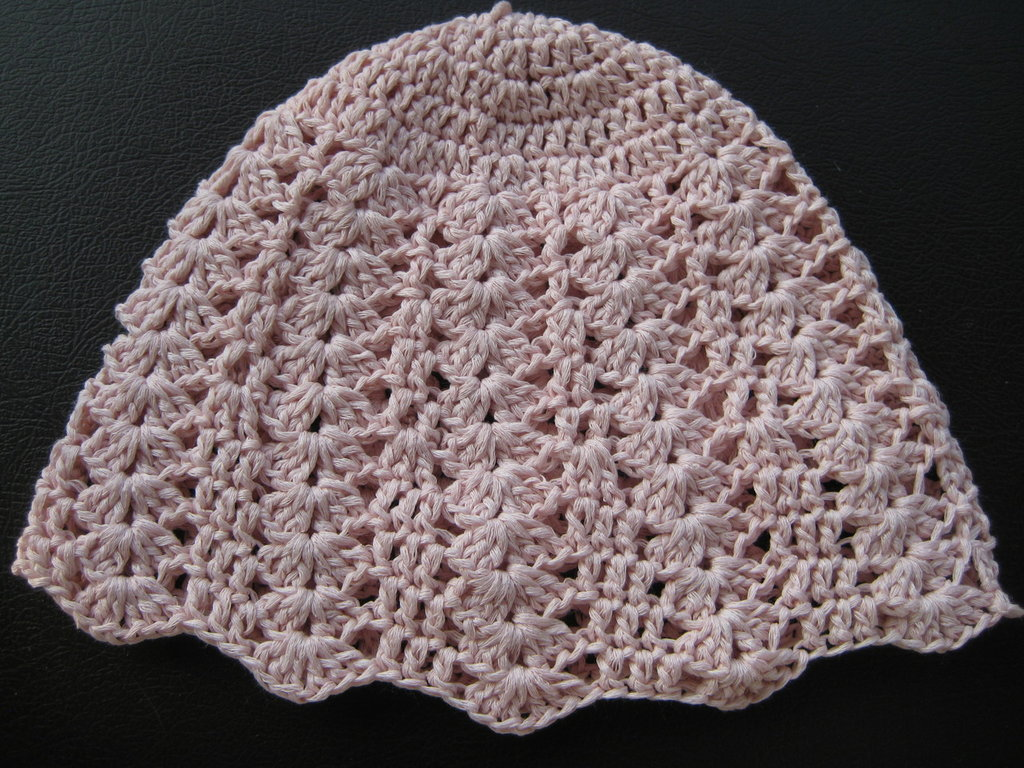 Cuffietta bimba rosa in cotone