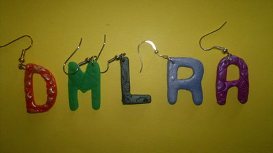 orecchini lettere alfabeto