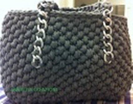 borsa fettuccia grigia