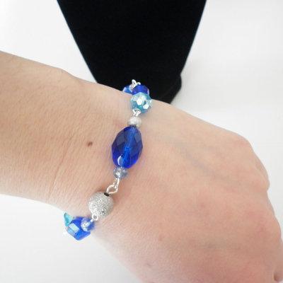 Bracciale perle blu