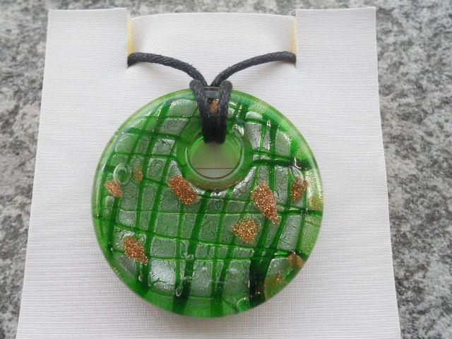 Collana con donut in murano verde