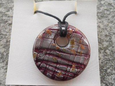 Collana con donut in murano viola