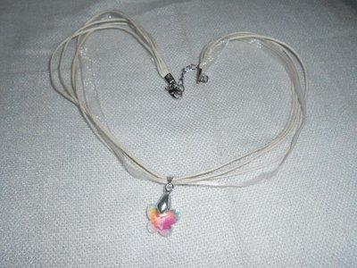 Collana con farfalla crystal