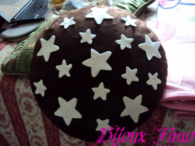 Cuscino pan di stelle fimo pannolenci