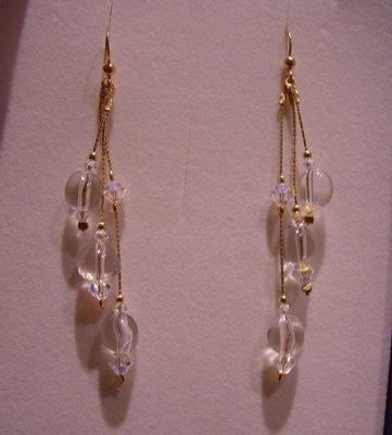 orecchini con cristallo di rocca
