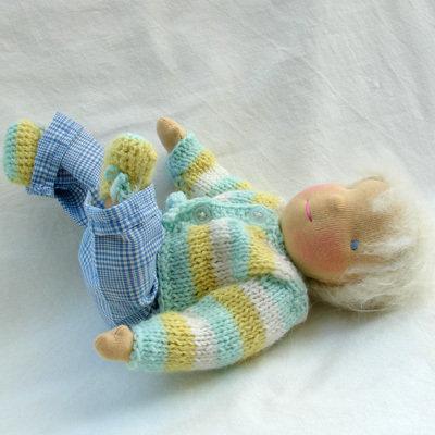 Bambola Waldorf - Anton piccolo bebe, 33 cm