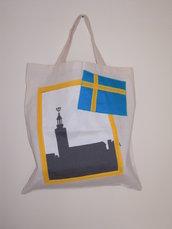 Svezia - borsa shopping tote bag - pezzo unico