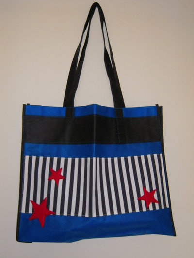 Stelle e strisce stars and stripes - borsa shopping tote bag - pezzo unico