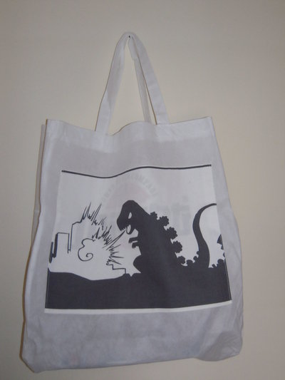 Godzilla - borsa shopping tote bag - pezzo unico