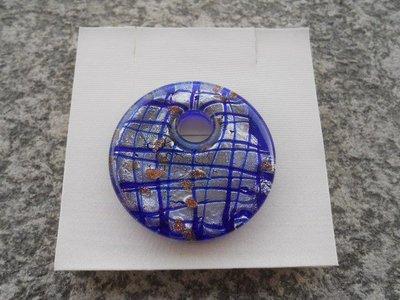 donut in vetro di murano blu