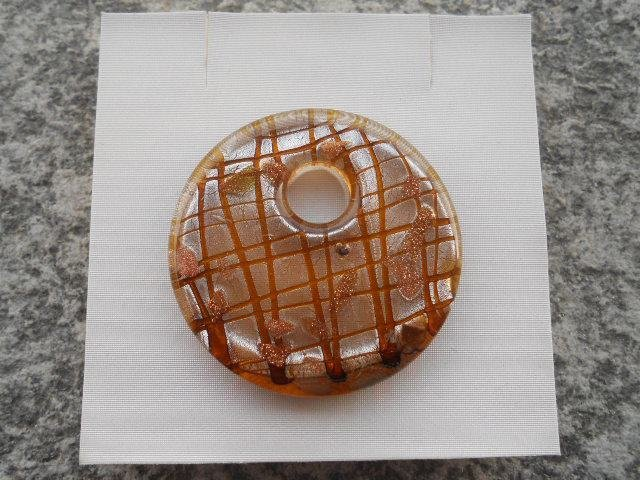 donut in vetro di murano marrone