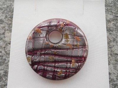 donut in vetro di murano viola