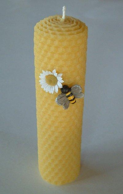 Candela Alveare In Pura Cera D' api