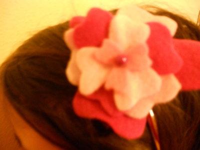 cerchietto fiore rosa