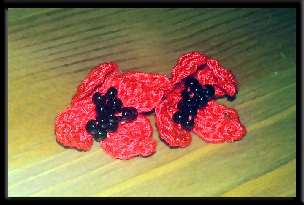 Orecchini Fiore Rosso