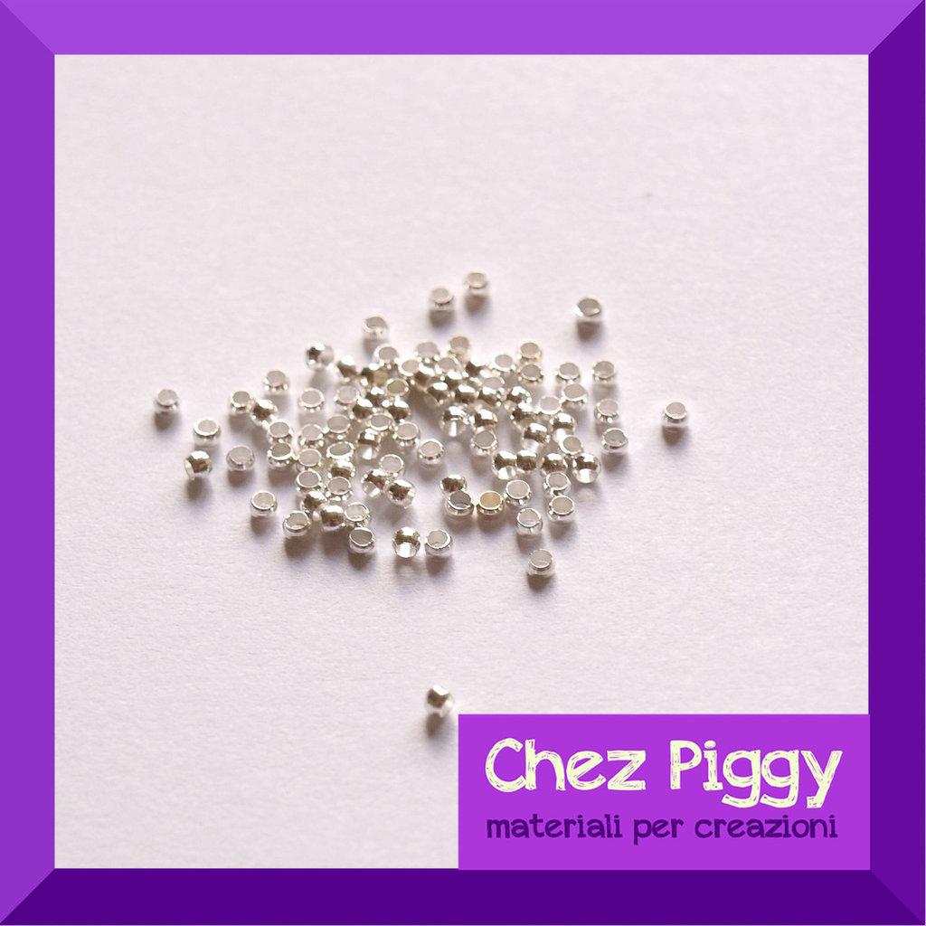 20 x schiaccini 1 mm - argento
