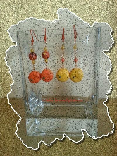 Orecchini Macaron gialli e arancio
