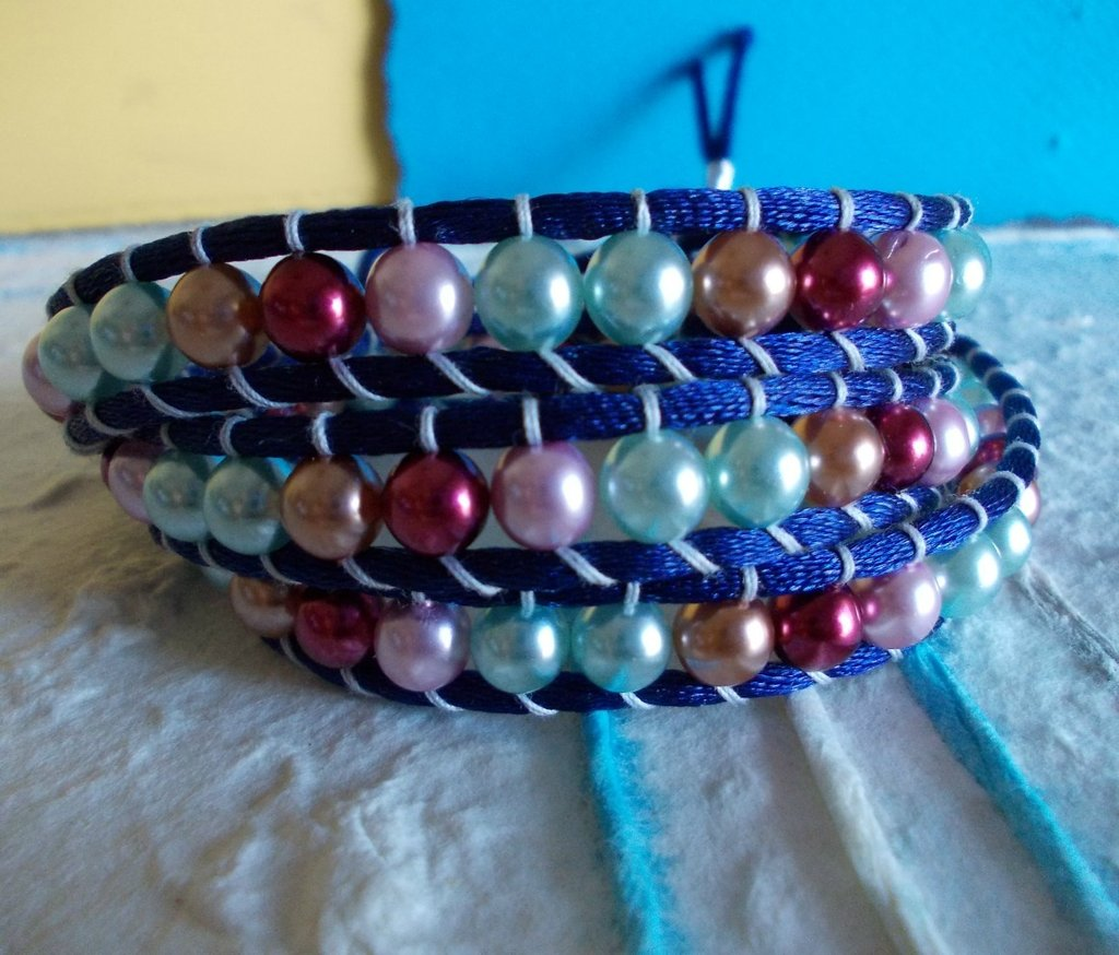 Bracciale wrap multicolore