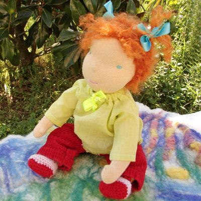 bambola Waldorf bebe Adelina, 33 cm