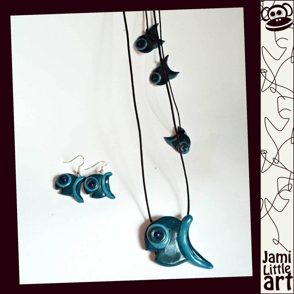 Art_0057_Parure Pesce Collana e Orecchini