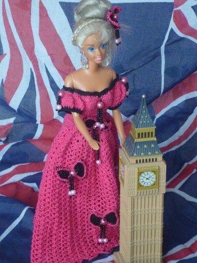Vestito Barbie Rosa e Nero