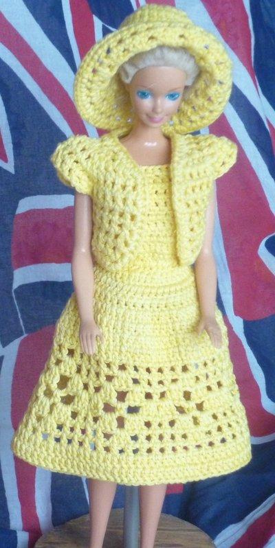 Vestito Barbie crema + Cappello