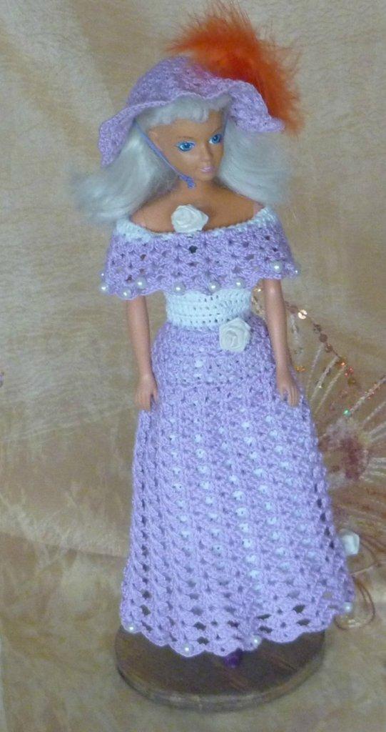 Vestito Barbie Azzurro + Cappello