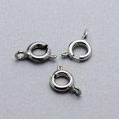 10 chiusure moschettone ad anello