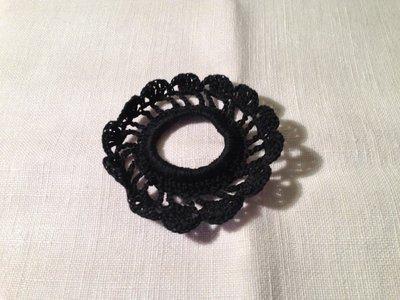 Legacoda elastico per capelli accessori moda (mod. 1) fatto a mano all'uncinetto in cotone di vari colori