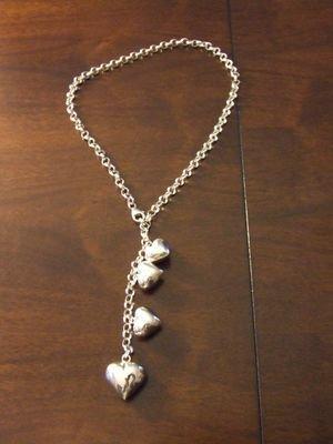 Collana in argento con cuori in varie dimensioni - cod. A17
