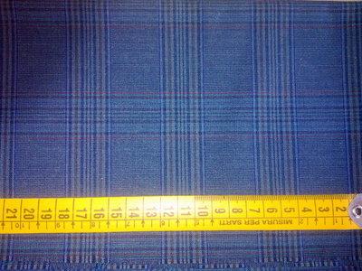 Scampolo tessuto taglio stoffa principe galles blu