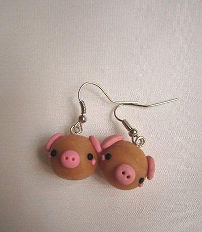 Orecchini maiale piggy