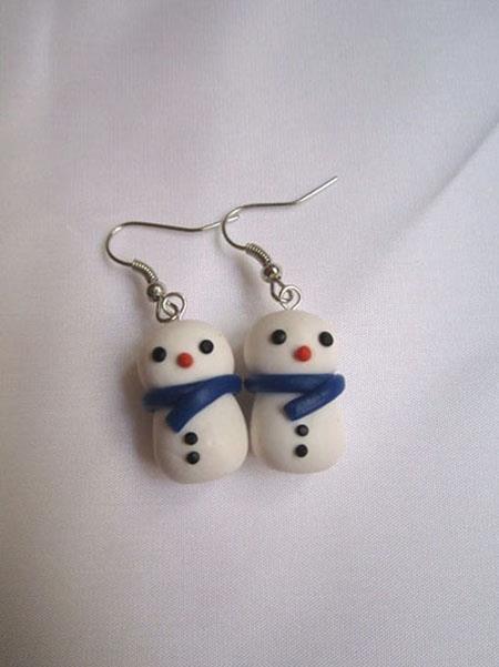 orecchini pupazzi di neve snowman