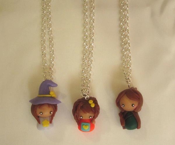 Collana bamboline dolls chibi