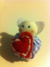 Bomboniera nascita :angioletto cucito Bow-Birth: angel of  cloth a mano