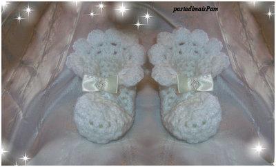 scarpine per neonato all uncinetto