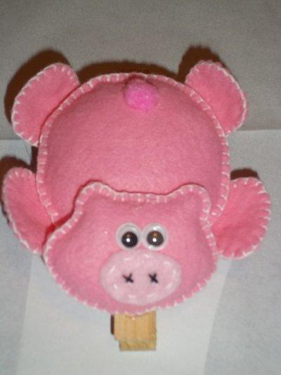 Molletta porta promemoria a forma di maialino
