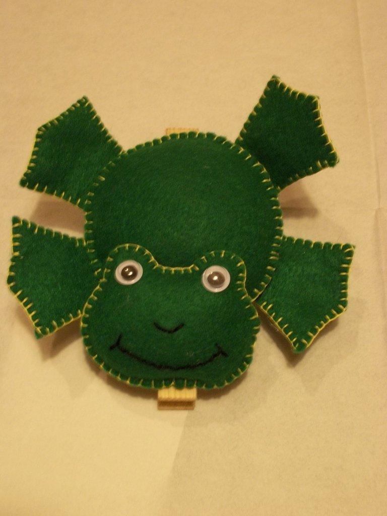 Molletta porta promemoria a forma di rana