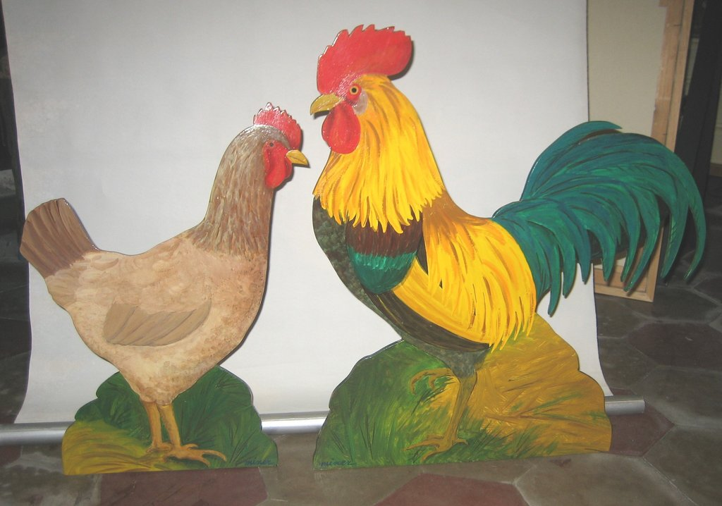 Sagome in legno dipinte a mano