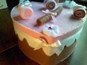 scatola torta in pannolenci