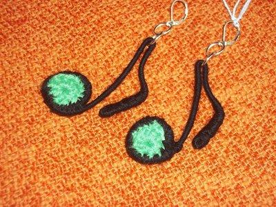 orecchini a forma di nota