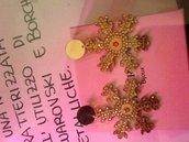 Orecchini fiocco di neve oro